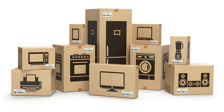 Moving and storage photo of assorted size boxes